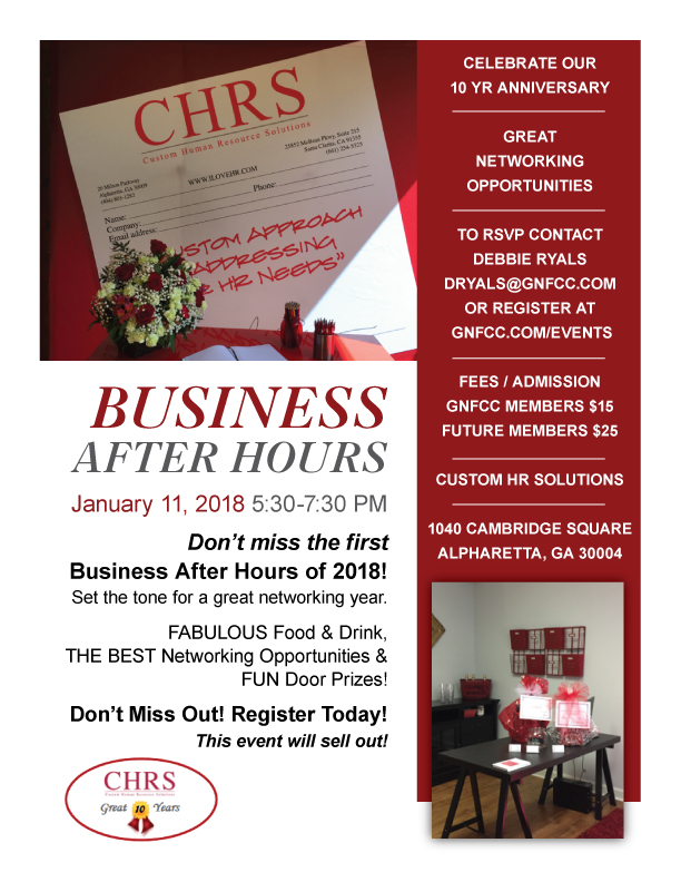 Business After Hours | CHRS Custom Human Resources Solutions